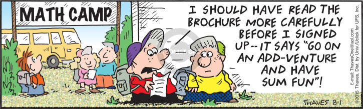 Comic Strip Bob Thaves Tom Thaves  Frank and Ernest 2015-08-01 math