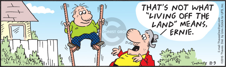 Comic Strip Bob Thaves Tom Thaves  Frank and Ernest 2015-08-03 land