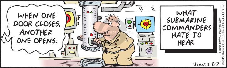 Cartoonist Bob Thaves Tom Thaves  Frank and Ernest 2015-08-07 submarine