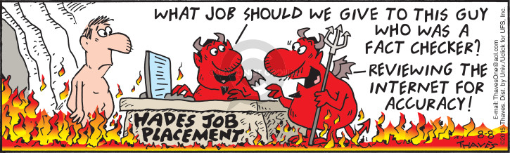 Comic Strip Bob Thaves Tom Thaves  Frank and Ernest 2015-08-08 employment work