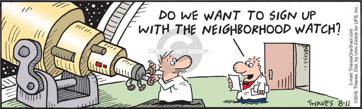 Comic Strip Bob Thaves Tom Thaves  Frank and Ernest 2015-08-11 crime