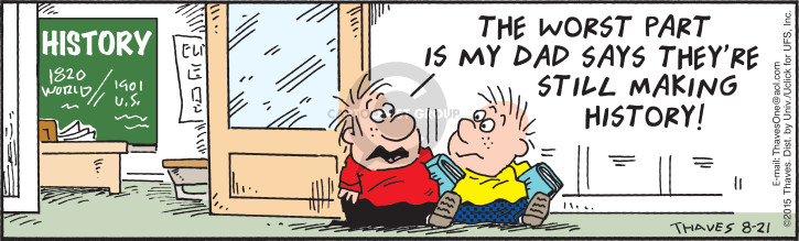 Comic Strip Bob Thaves Tom Thaves  Frank and Ernest 2015-08-21 current