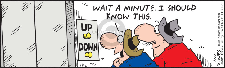 Comic Strip Bob Thaves Tom Thaves  Frank and Ernest 2015-08-22 wait
