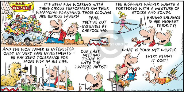 Comic Strip Bob Thaves Tom Thaves  Frank and Ernest 2015-08-30 financial planning
