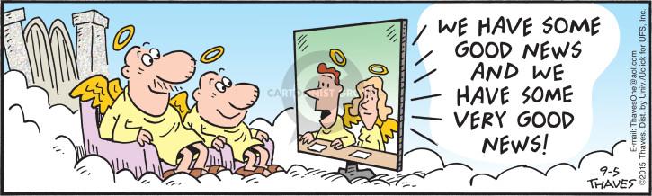 Comic Strip Bob Thaves Tom Thaves  Frank and Ernest 2015-09-05 news media