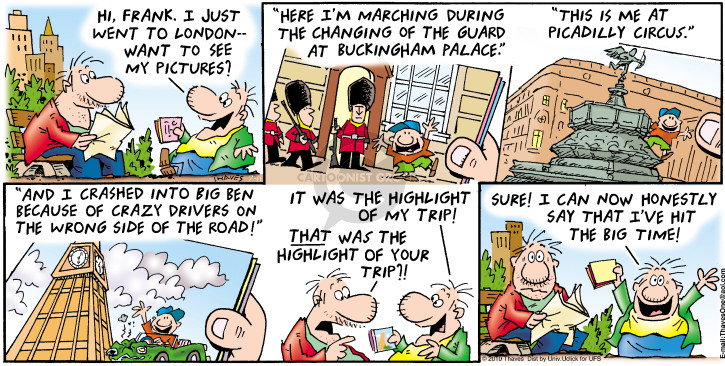 Comic Strip Bob Thaves Tom Thaves  Frank and Ernest 2015-10-04 road trip
