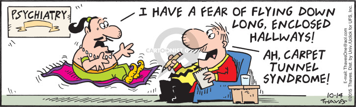 Cartoonist Bob Thaves Tom Thaves  Frank and Ernest 2015-10-14 fear