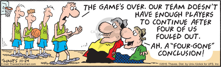 Comic Strip Bob Thaves Tom Thaves  Frank and Ernest 2015-10-24 game over