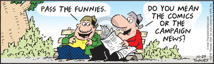 Comic Strip Bob Thaves Tom Thaves  Frank and Ernest 2015-10-29 newspaper