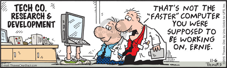 Comic Strip Bob Thaves Tom Thaves  Frank and Ernest 2015-11-06 high-tech