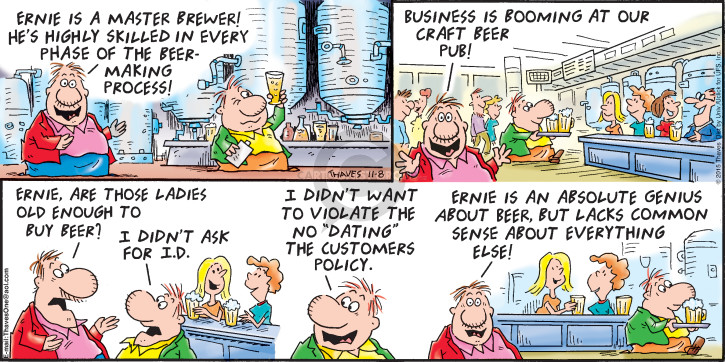 Comic Strip Bob Thaves Tom Thaves  Frank and Ernest 2015-11-08 mail
