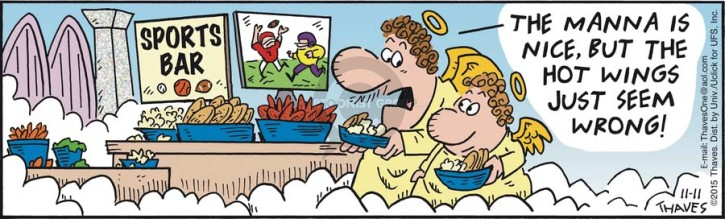 Cartoonist Bob Thaves Tom Thaves  Frank and Ernest 2015-11-11 favorite food