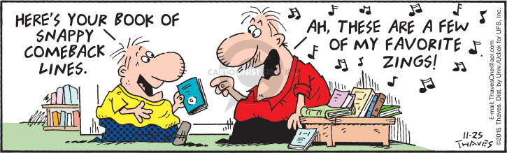 Comic Strip Bob Thaves Tom Thaves  Frank and Ernest 2015-11-25 song