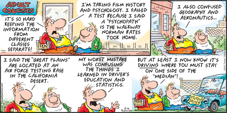 Comic Strip Bob Thaves Tom Thaves  Frank and Ernest 2015-12-06 statistic