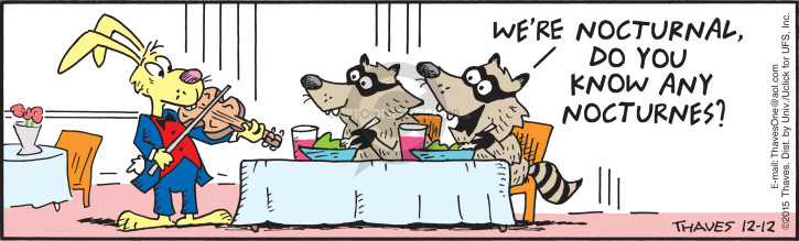Comic Strip Bob Thaves Tom Thaves  Frank and Ernest 2015-12-12 eat