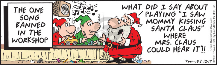 Comic Strip Bob Thaves Tom Thaves  Frank and Ernest 2015-12-17 claus