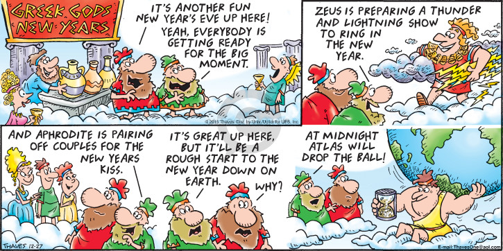 Comic Strip Bob Thaves Tom Thaves  Frank and Ernest 2015-12-27 Greece