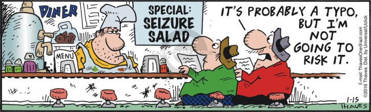 Cartoonist Bob Thaves Tom Thaves  Frank and Ernest 2015-01-15 food safety