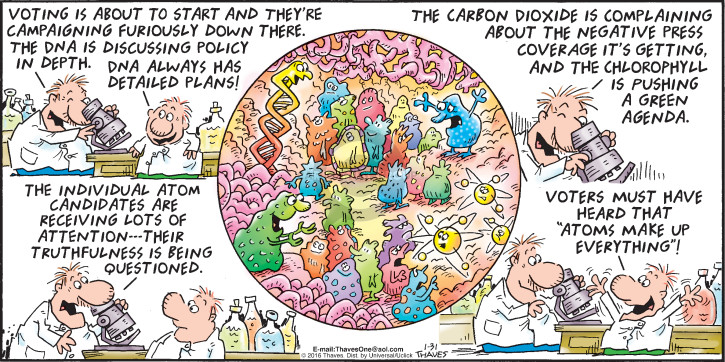 Comic Strip Bob Thaves Tom Thaves  Frank and Ernest 2016-01-31 global warming science