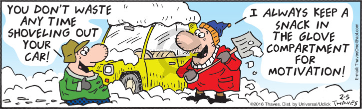 Cartoonist Bob Thaves Tom Thaves  Frank and Ernest 2016-02-05 compartment