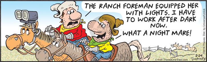 Comic Strip Bob Thaves Tom Thaves  Frank and Ernest 2016-02-24 ranch
