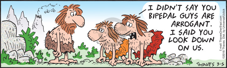 Cartoonist Bob Thaves Tom Thaves  Frank and Ernest 2016-03-05 caveman