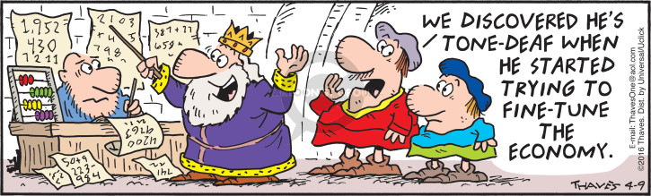 Comic Strip Bob Thaves Tom Thaves  Frank and Ernest 2016-04-09 royalty