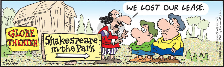 Comic Strip Bob Thaves Tom Thaves  Frank and Ernest 2016-04-12 park