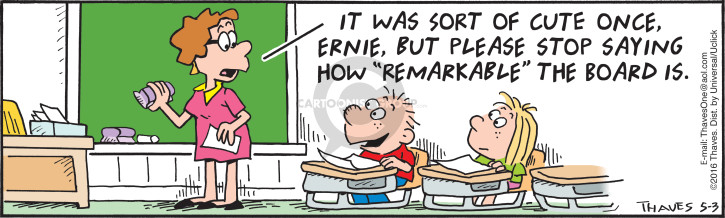 Comic Strip Bob Thaves Tom Thaves  Frank and Ernest 2016-05-03 high school student