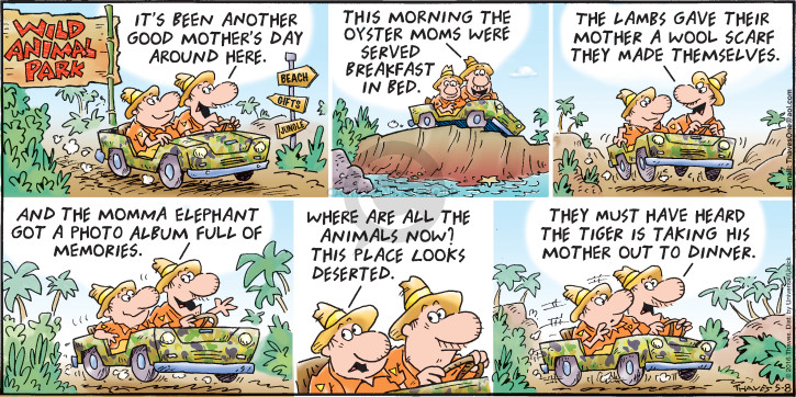 Comic Strip Bob Thaves Tom Thaves  Frank and Ernest 2016-05-08 park