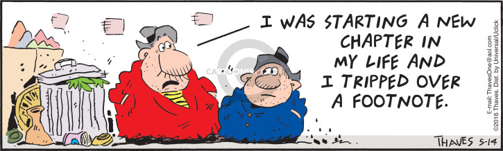 Cartoonist Bob Thaves Tom Thaves  Frank and Ernest 2016-05-14 reference