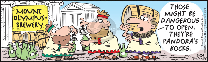 Comic Strip Bob Thaves Tom Thaves  Frank and Ernest 2016-05-24 Greece
