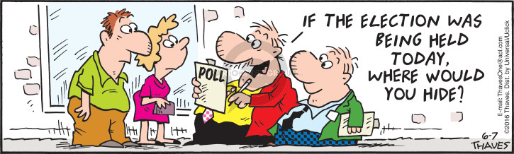 Comic Strip Bob Thaves Tom Thaves  Frank and Ernest 2016-06-07 poll