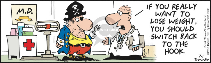 Comic Strip Bob Thaves Tom Thaves  Frank and Ernest 2016-07-01 physician
