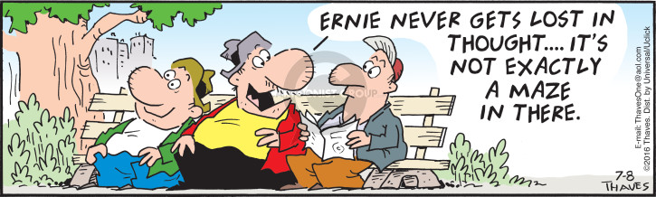 Comic Strip Bob Thaves Tom Thaves  Frank and Ernest 2016-07-08 simple
