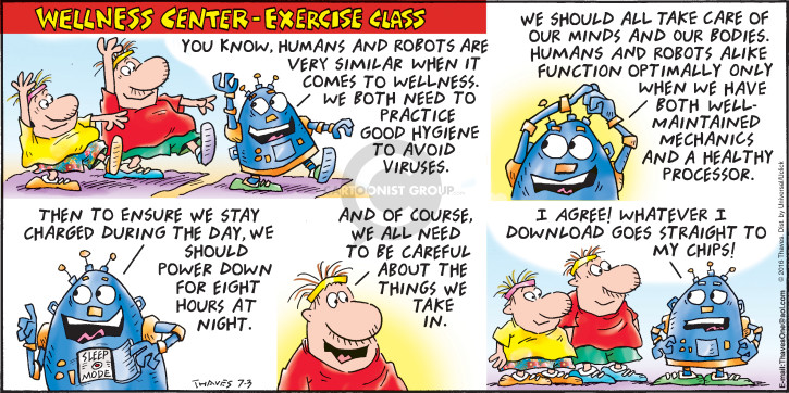 Comic Strip Bob Thaves Tom Thaves  Frank and Ernest 2016-07-03 fitness center