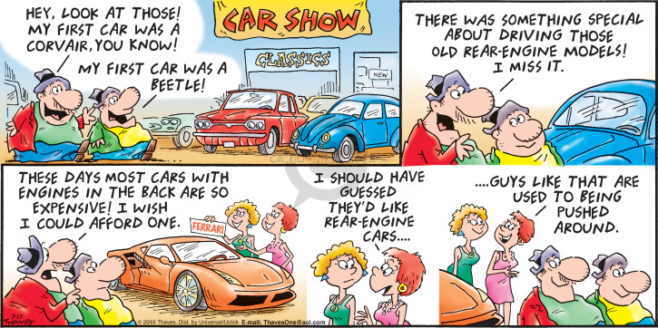 Comic Strip Bob Thaves Tom Thaves  Frank and Ernest 2016-07-17 car driver