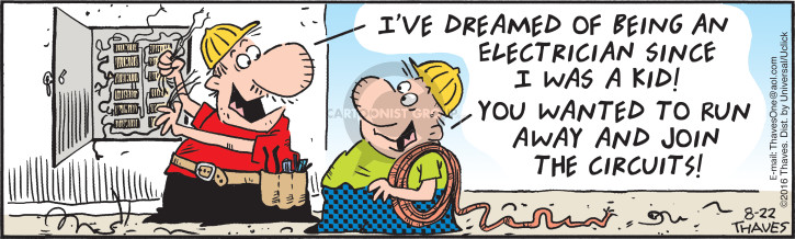 Cartoonist Bob Thaves Tom Thaves  Frank and Ernest 2016-08-22 dream