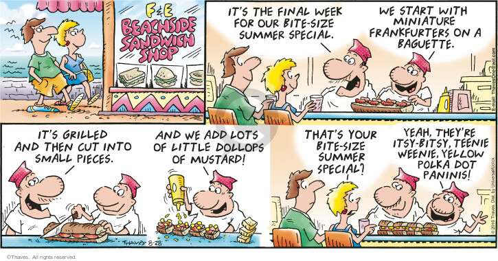 Cartoonist Bob Thaves Tom Thaves  Frank and Ernest 2016-08-28 ingredient
