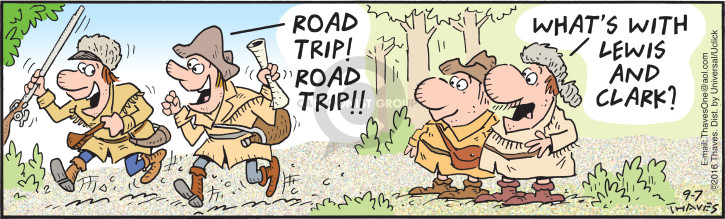 Comic Strip Bob Thaves Tom Thaves  Frank and Ernest 2016-09-07 road trip
