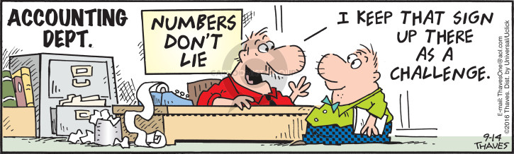 Comic Strip Bob Thaves Tom Thaves  Frank and Ernest 2016-09-14 math