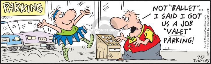 Comic Strip Bob Thaves Tom Thaves  Frank and Ernest 2016-09-17 park