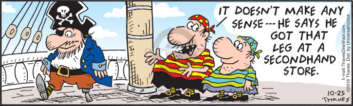 Comic Strip Bob Thaves Tom Thaves  Frank and Ernest 2016-10-25 leg