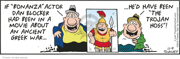 Comic Strip Bob Thaves Tom Thaves  Frank and Ernest 2016-11-09 Greece