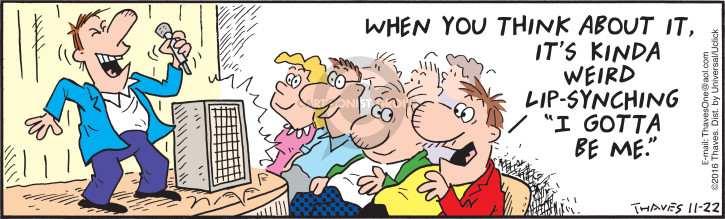 Comic Strip Bob Thaves Tom Thaves  Frank and Ernest 2016-11-22 kind