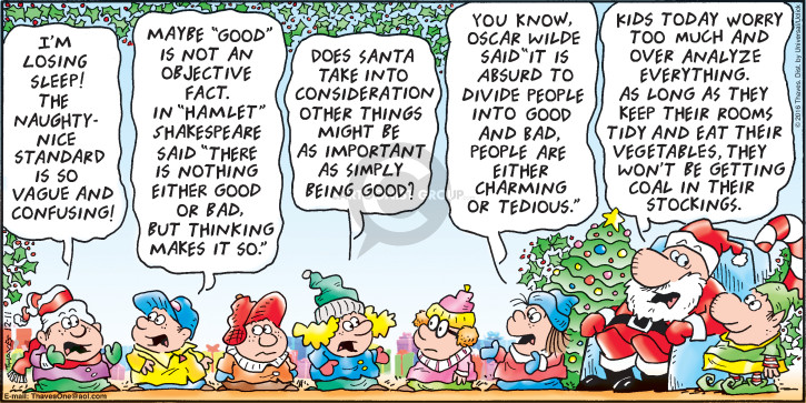 Comic Strip Bob Thaves Tom Thaves  Frank and Ernest 2016-12-11 claus