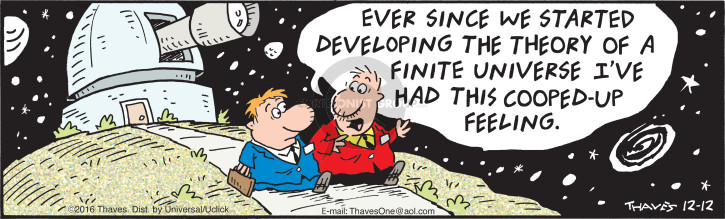 Comic Strip Bob Thaves Tom Thaves  Frank and Ernest 2016-12-12 develop