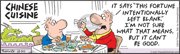 Comic Strip Bob Thaves Tom Thaves  Frank and Ernest 2016-12-30 left
