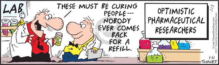 Comic Strip Bob Thaves Tom Thaves  Frank and Ernest 2017-01-11 optimistic