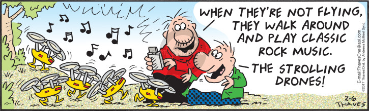 Comic Strip Bob Thaves Tom Thaves  Frank and Ernest 2017-02-06 classic rock music